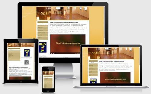 Firmenwebseite Ripal