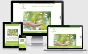 webseite mit WordPress, responsiv www.optienergy.de